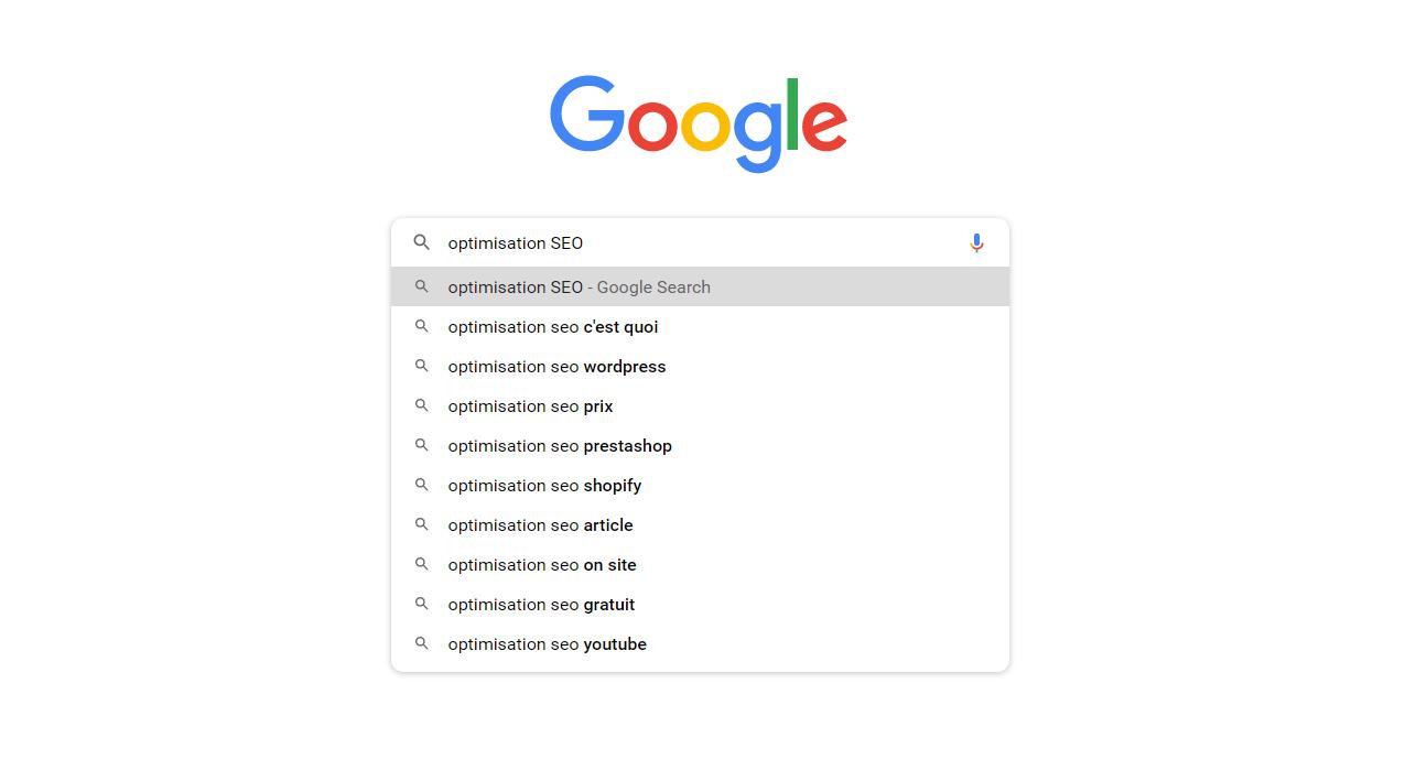 Outils Google pour trouver des mots-clés