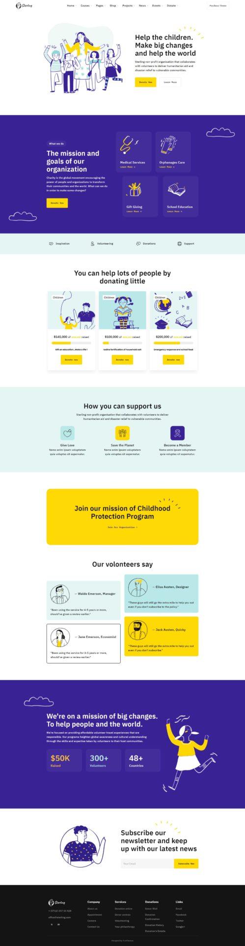 Sterling : WordPress thème pour associations enfance