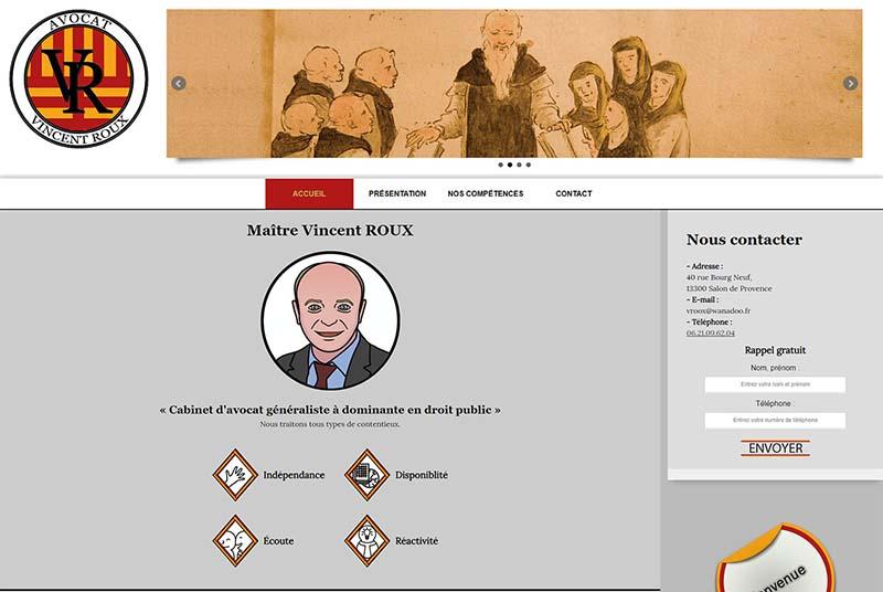 Capture d'écran Maitre VR Site avocat généraliste aix en provence