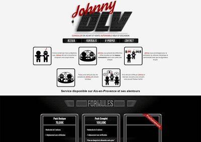 Site Onepage JohnnyDLV (vente de voiture)