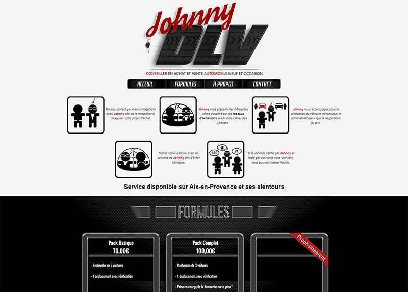 Capture d'écran Johnny DLV Site de vente automobile