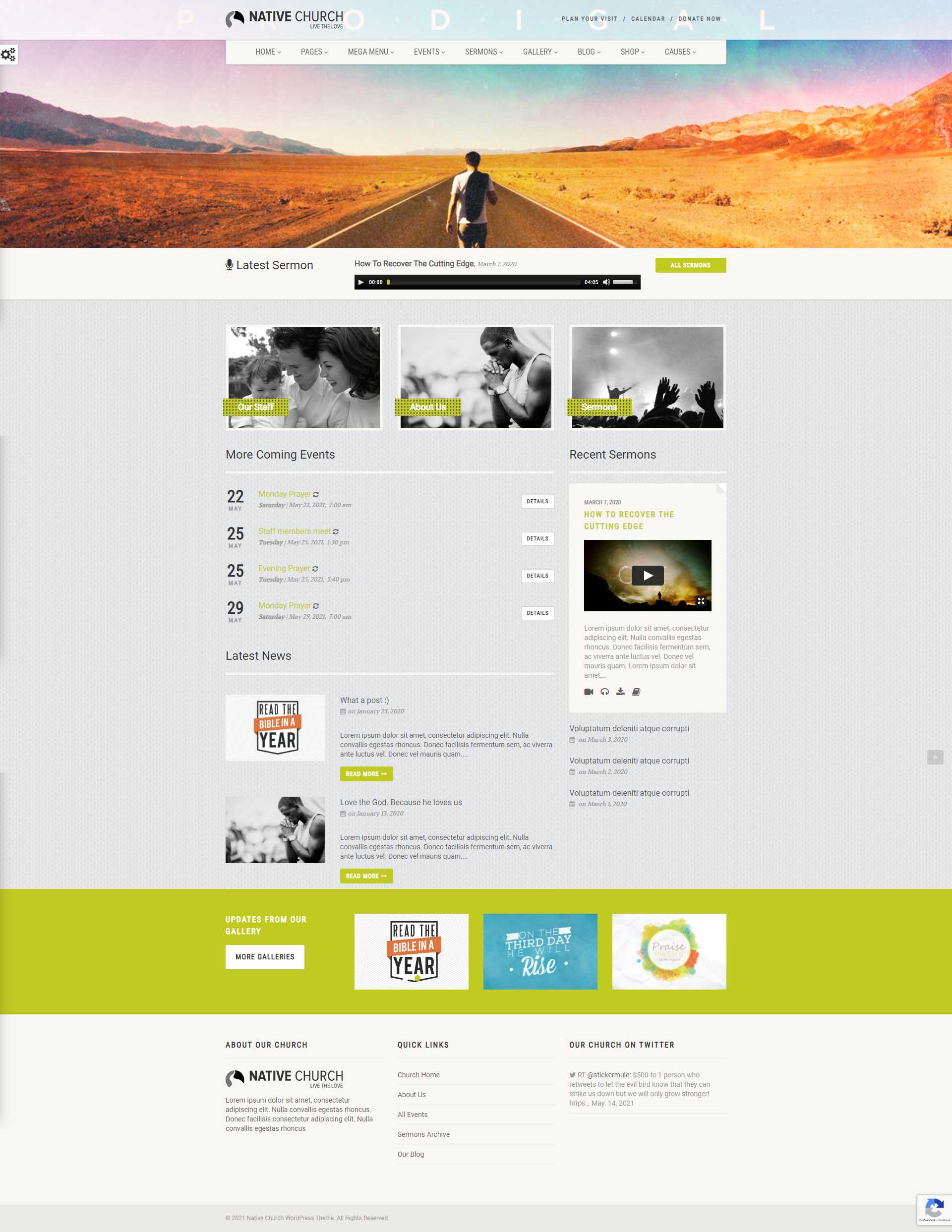 NativeChurch : Template wordpress pour ONG