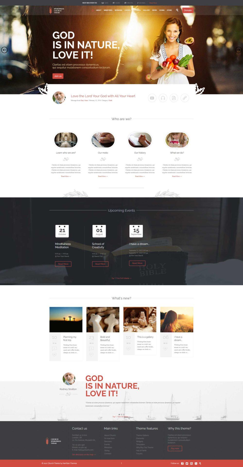 Church : Template wordpress pour site associatif