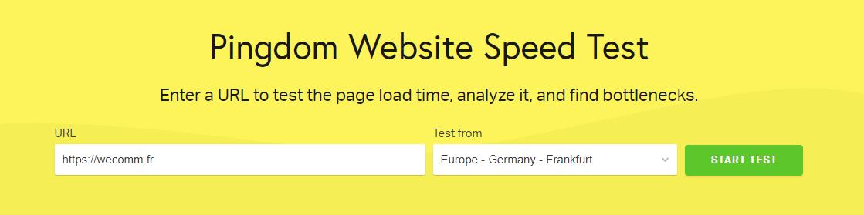 Pingdom : Outil complet pour tester la vitesse d'affichage de son site internet