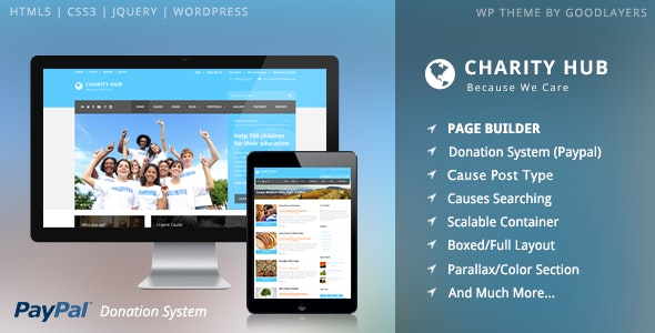 Charity Hub thème WP pour association