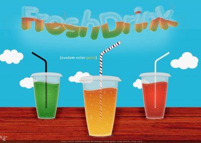 FreshDrink : Affiche publicitaire