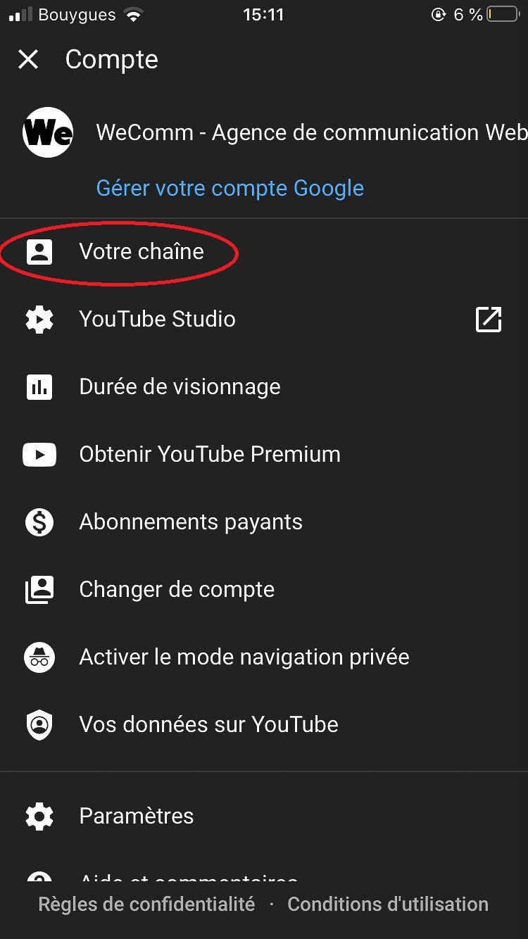 Passer en direct sur YouTube