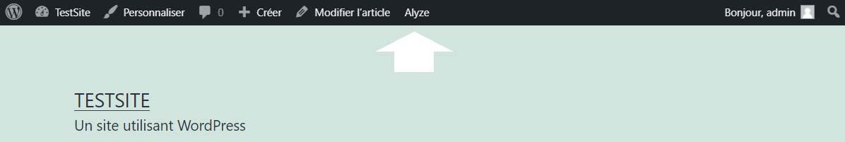 alyze barre d'outil wordpress