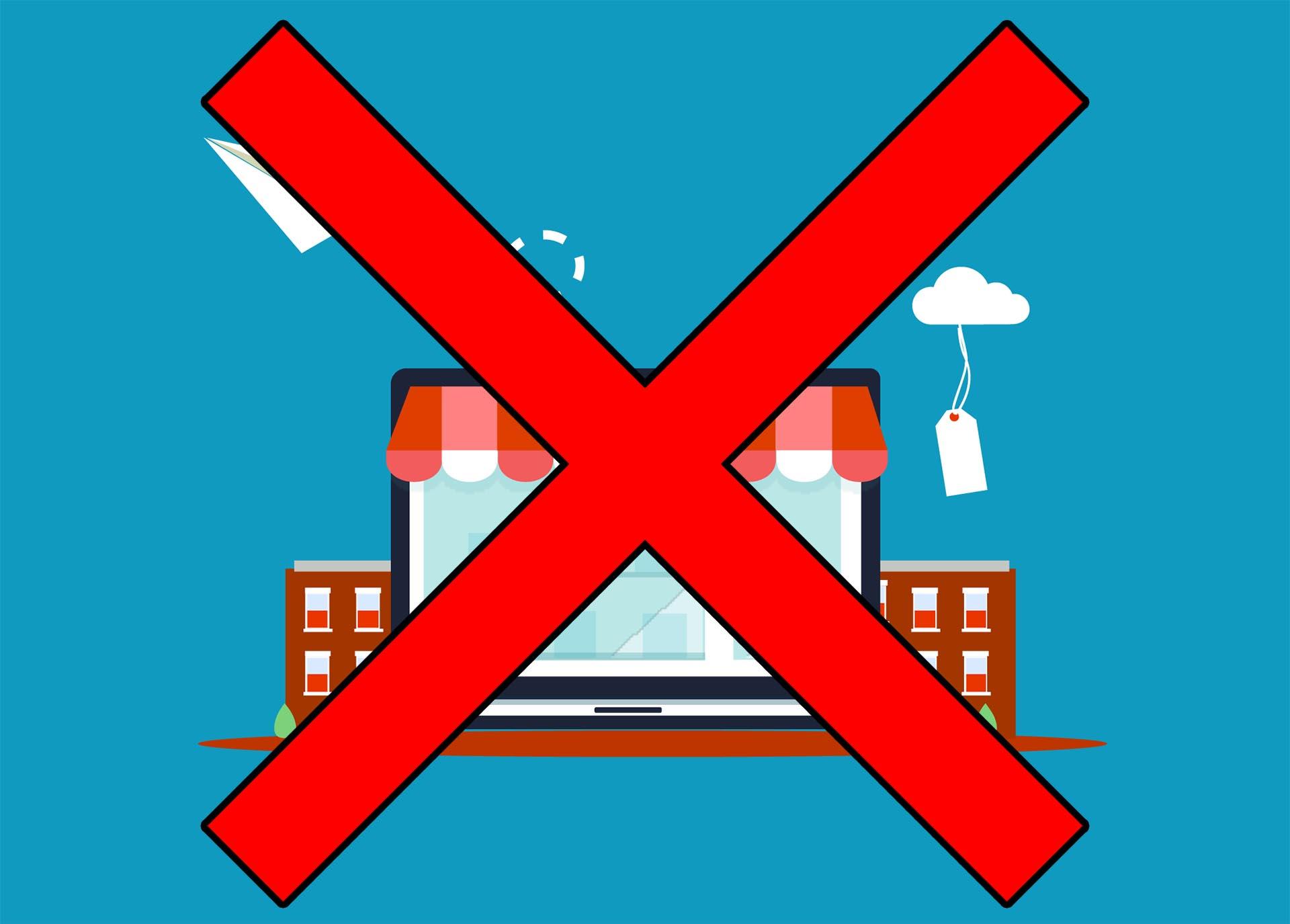 boutique en ligne et site marchand gratuits : à bannir