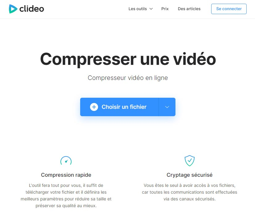 Clideo : compresseur de vidéo en ligne