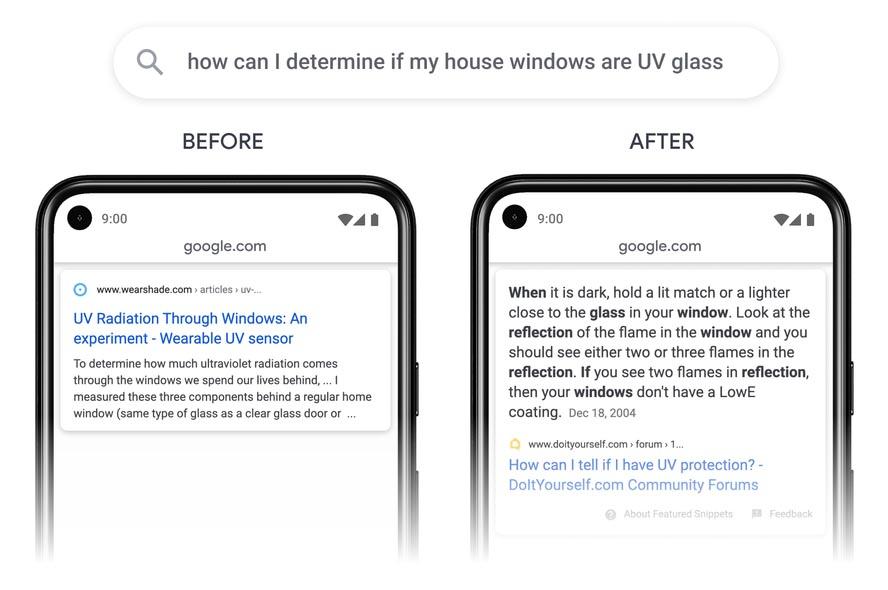 Résultats Google à propos des lampes UV