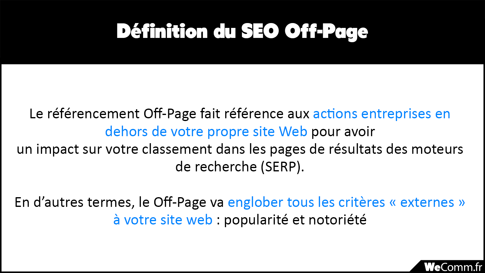 Définition du SEO Off-Page