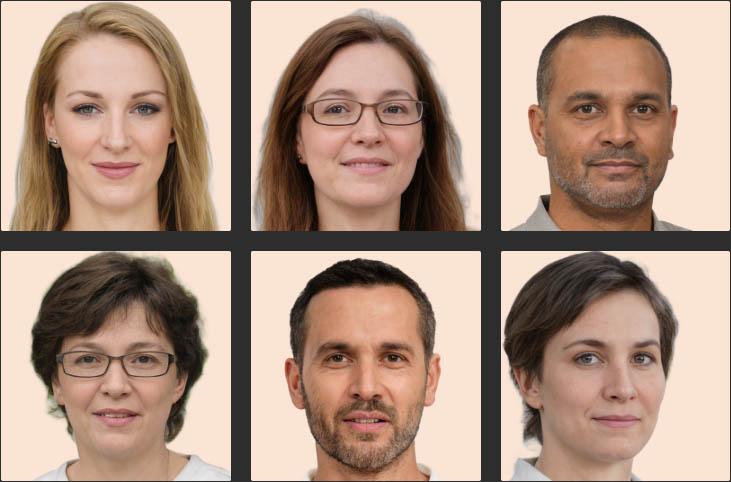 Visages générés par une intelligence artificielle : machine learning