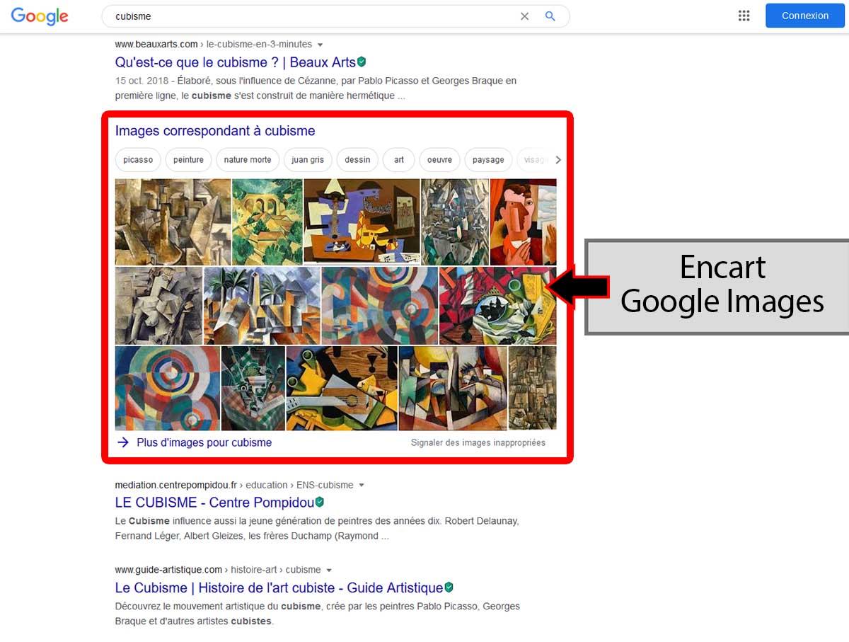 Google images dans les résultats google