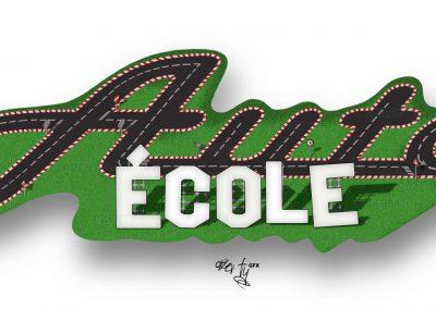 Auto-École : Illustration et Logo