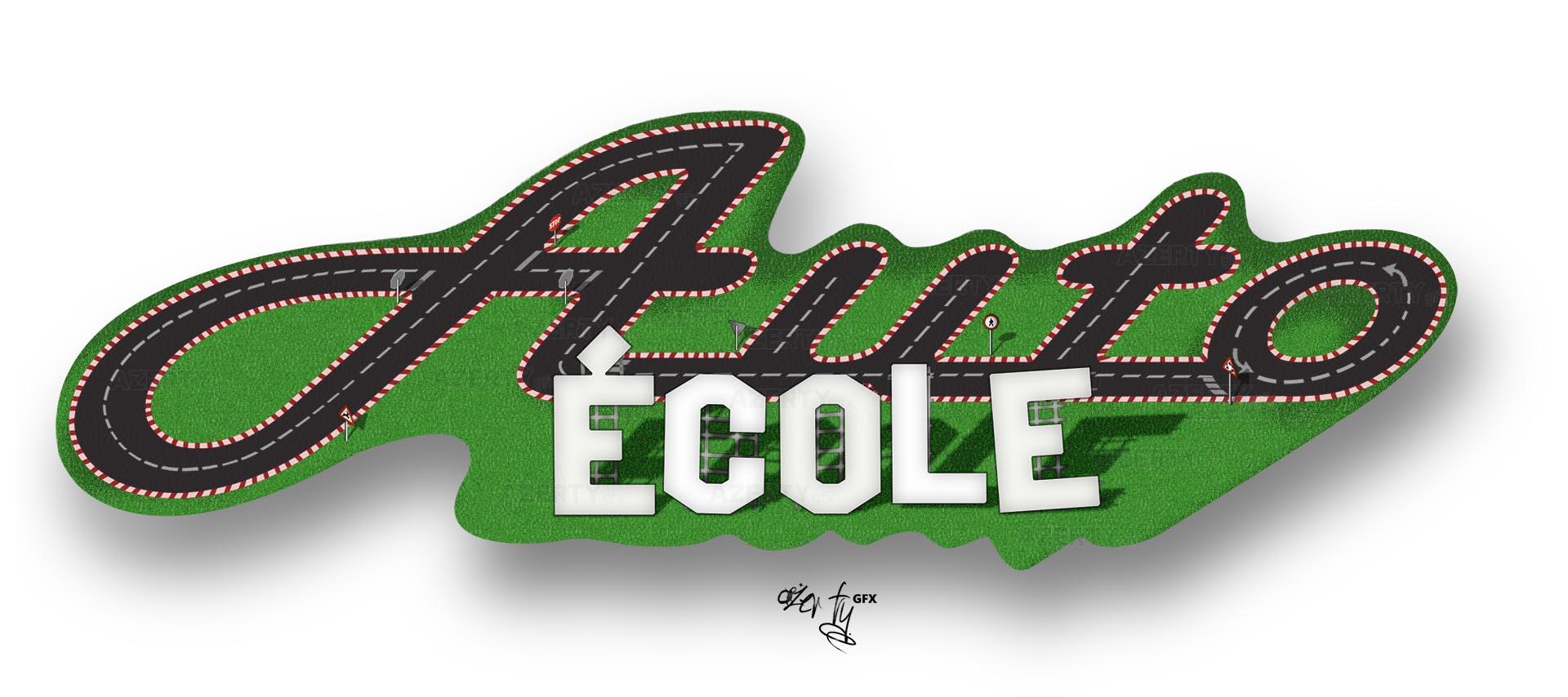 Logo illustration auto-école