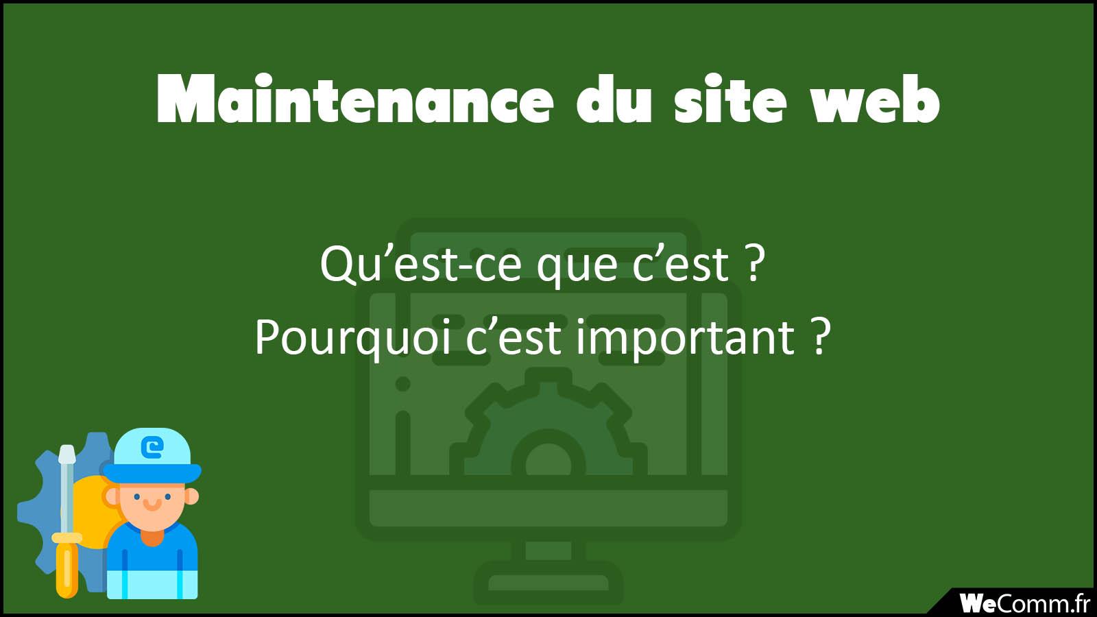 Maintenance et entretien du site web