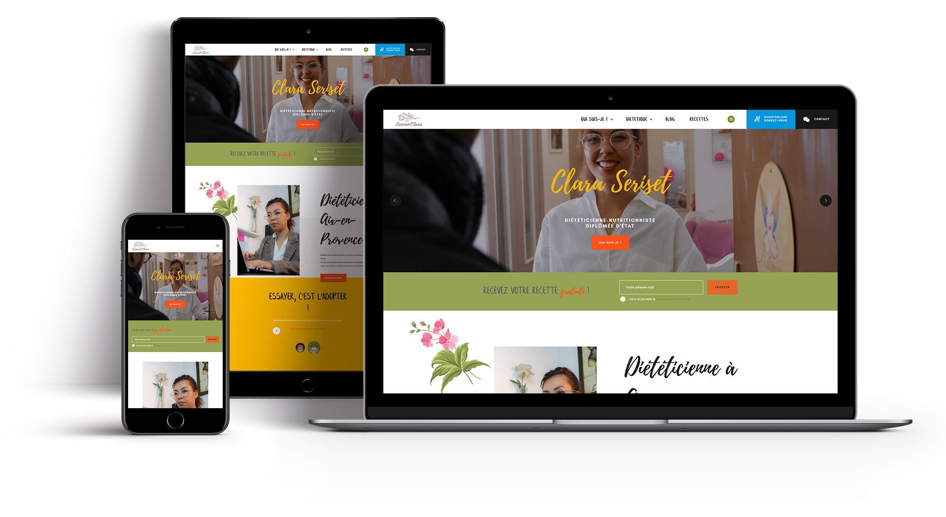 Mockup du site web de CS Dietetique