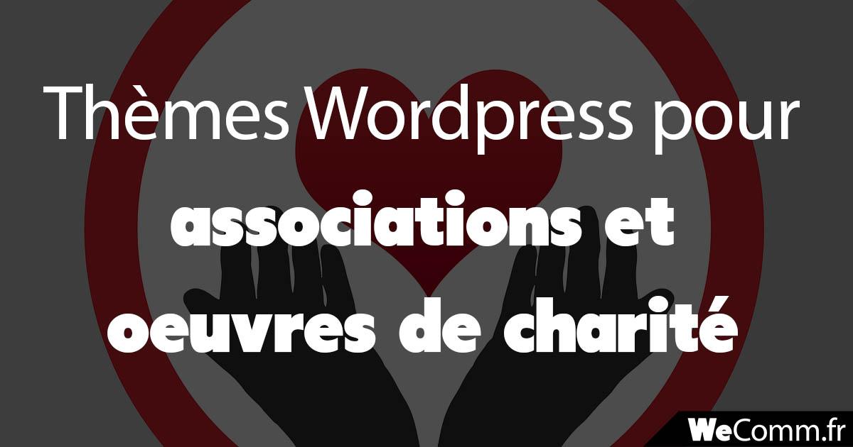 Thèmes WordPress pour associations et oeuvres de charité